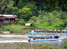 El Ejército de Nicaragua vigila a orillas del río San Juan. | JORGE ARCE