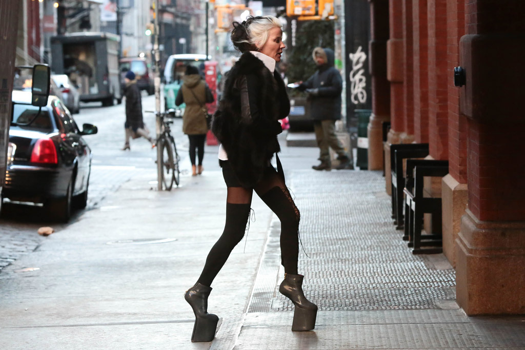 Daphne Guinness seen in NYC in 2014. Getty Images.